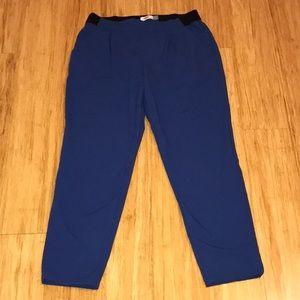 Blue dress pants w/ elastic waistband